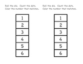 Dice Roll Counting Activity
