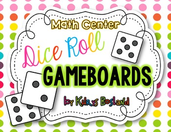 Dice Roll Game Boards {Fun Math Center For the Year!} {22 Thematic Game Boards}