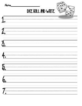 Dice Roll & Write