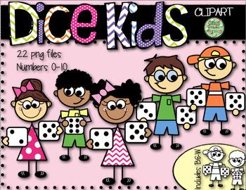 Dice Stick Kids Clip Art