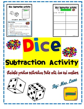 Dice Subtraction Activity