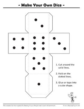 Dice Clip Art / Blank Dice Template by Dancing Crayon Designs | TpT