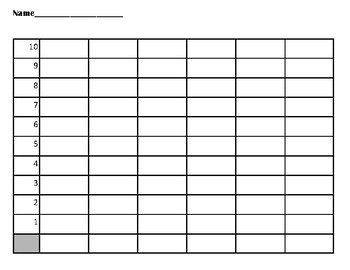 Dice Template, Roll and Read Graph and BONUS Graphs