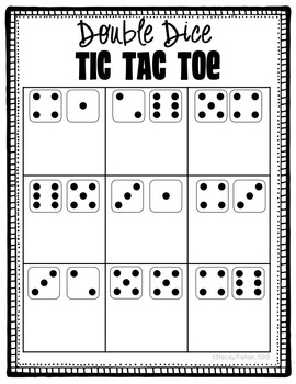Dice and Dominoes Tic Tac Toe: Practice with Subitizing, Counting, and Adding