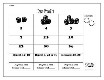 Dice Time Math Game
