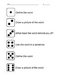 Dice Vocabulary Game