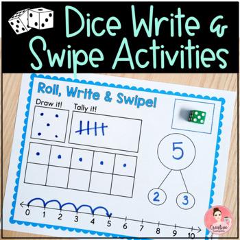 Dice Write and Swipe Activities
