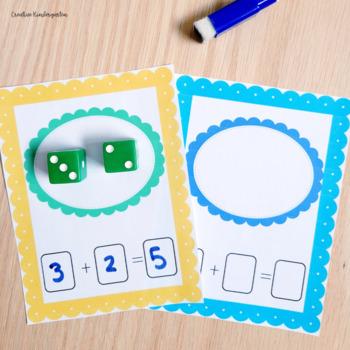 Dice Write and Swipe Activities for Kindergarten Number Sense Math Centers