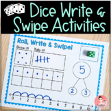 Dice Write and Swipe Activities for Kindergarten Number Se