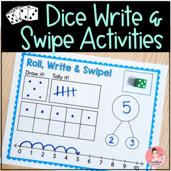 Dice Write and Swipe Activities
