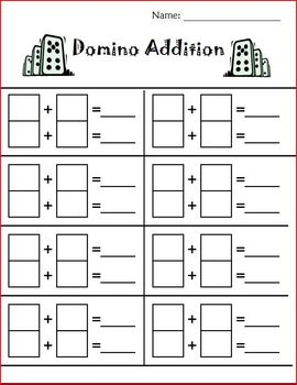 dice and domino addition and subtraction fun by teaching with terhune. Black Bedroom Furniture Sets. Home Design Ideas