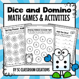 Dice and Domino Math Games and Activities - Distance Learning