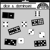 Dice and Dominoes Clipart Graphics FREE