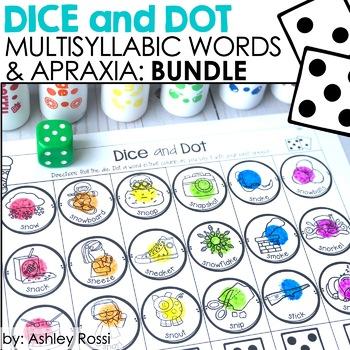 Dice and Dot Apraxia & Multisyllabic Words BUNDLE