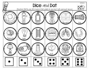 Speech and Language Therapy Dice & Dot PICTURES BUNDLE