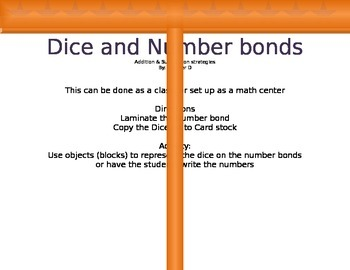 Dice and Number Bonds