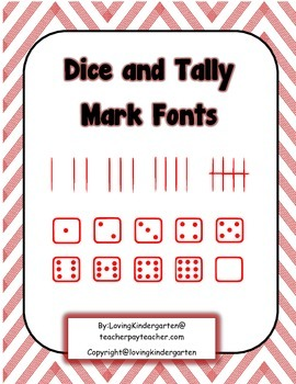 Dice and Tally Mark Fonts