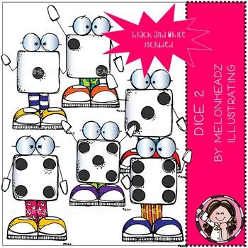 Dice clip art - Set 2 - Mini - Melonheadz Clipart