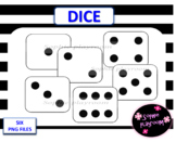 Dice clip art and printable