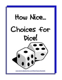 Dice for Math Games (multiply, add, subtract, give directions, lots of uses...)