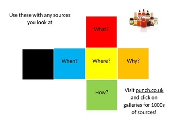Dice for Source Analysis for History Lessons