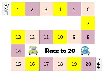 Dice game race to 10 or 20