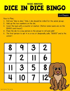 Dice in Dice Math Games