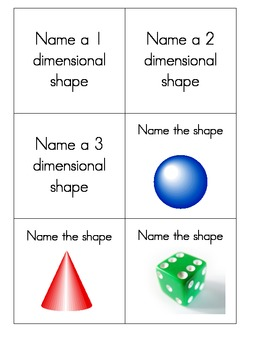 Dice inserts - Shapes and Symbols