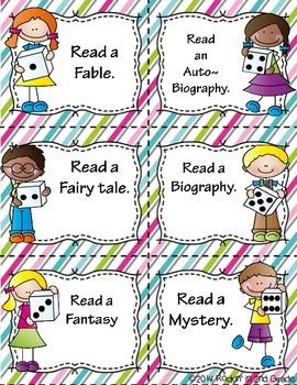Dice it ~ Reading Genre Center