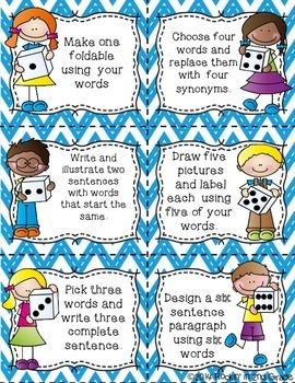Dice it ~ Word Work Center