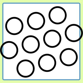 Dice or Subitizing Color In Dots Clip Art Set for Commercial Use