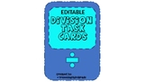 Dice with Division EDITABLE Task Cards- One Digit Divisor