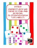 Diced! Phonics Box #10 - Closed/VCE/Open Syllables