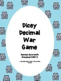 Dicey Decimal War Game