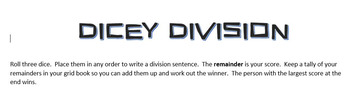 Dicey Division Game - differentiatable