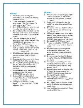 Dicey's Song: Synonym/Antonym Crossword—Fun and Unique!