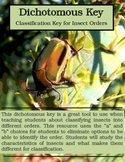 Dichotomous Key: Classification Key for Insect Orders