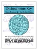 Dichotomous Key - Classification Key for Zodiac Signs