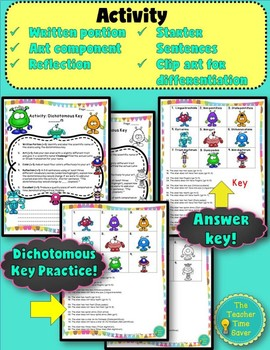 Dichotomous Key Lesson- Classification Unit (Notes, Activity, and Presentation)