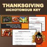 Thanksgiving Dinner Dichotomous Key