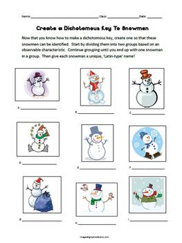 Dichotomous Key To Snowmen!