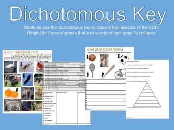 Dichotomous Key Using the Mascots of the ACC