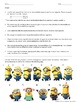 Dichotomous Key Worksheet with Minions