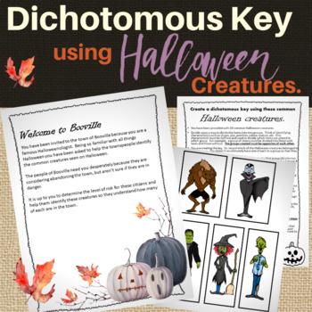 Dichotomous Key Activities with Halloween Creatures.