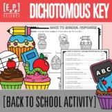 Dichotomous Keys- Back to School Cupcakes