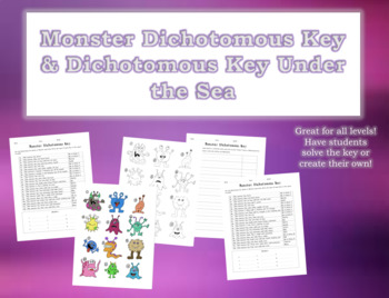 Dichotomous Keys (Monsters and Under the Sea)