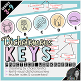 Dichotomous Keys Worksheets