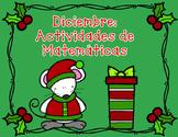 Matematicas:  Navidad para Kindergarten y Primero