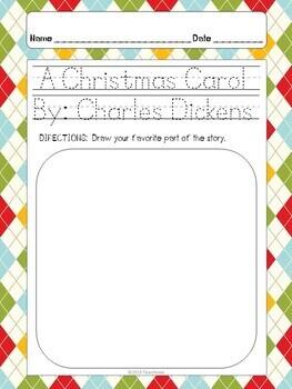 "Dicken's - A Christmas Carol ""Opinion"" Writing Activities"