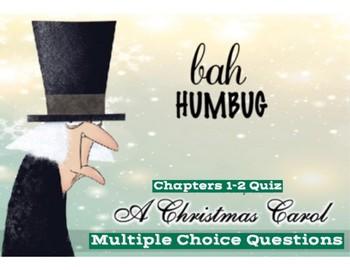 """Dickens' """"A Christmas Carol"""" Ch. 1-2 Quiz"""
